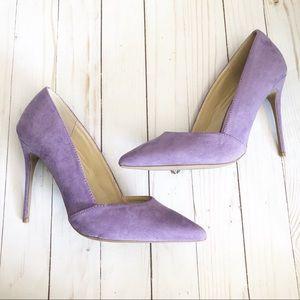 Lavender pointed heels